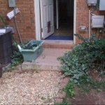 Before: Pea Gravel ground cover